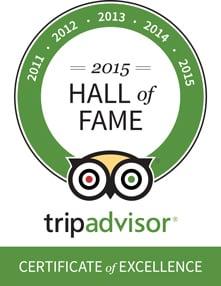 Villa Coco 2015 Trip Advisor Hall of Fame