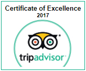 Villa Coco Certificate of Excellence 2017